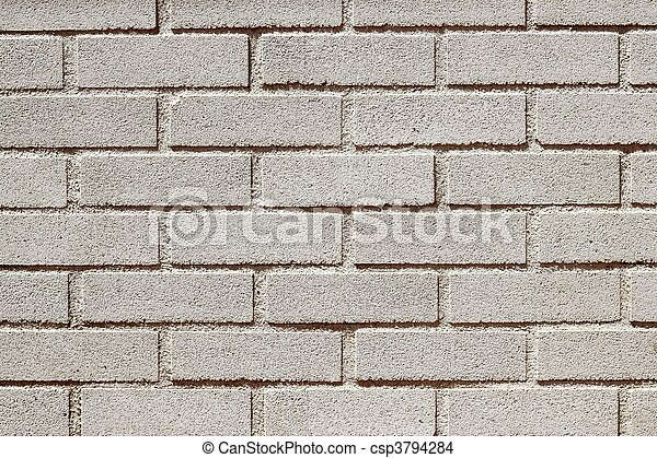 precast concrete white bricks brickwall wall - csp3794284