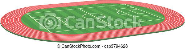 3d Football soccer field pitch - csp3794628