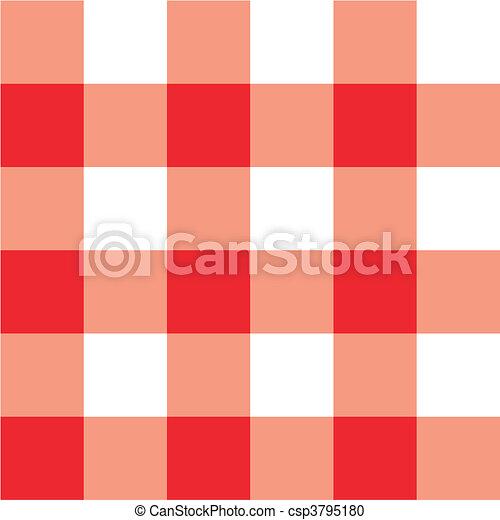 Red picnic table cloth plaid - csp3795180