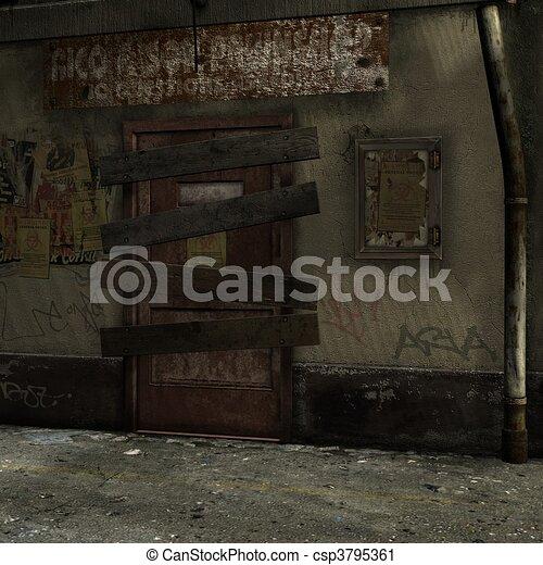 Dead End Alley Scene - csp3795361