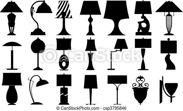 Lamps (vector) - csp3795846