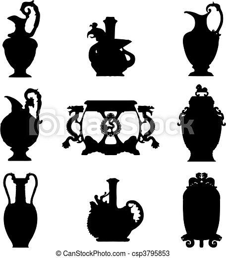 Ancient vases (vector) - csp3795853