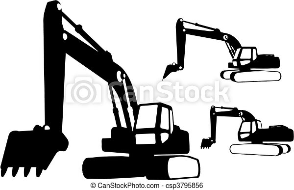 Construction vehicles (vector) - csp3795856