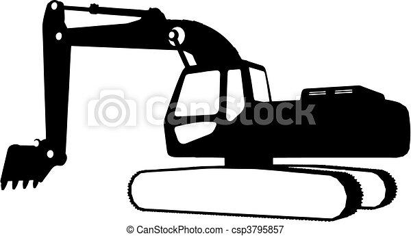 Construction vehicles (vector) - csp3795857