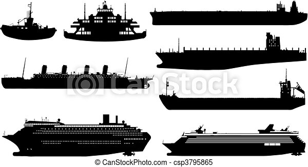 ocean ship (vector) - csp3795865