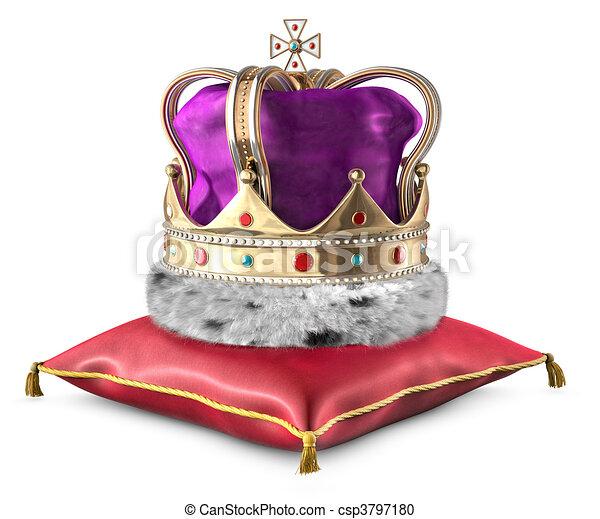 Crown on pillow - csp3797180