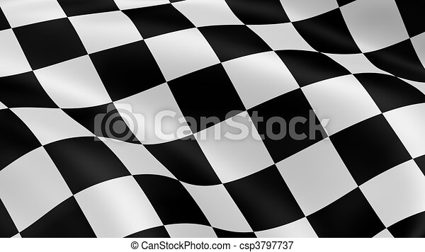 Checkered Flag Paper Checkered Flag