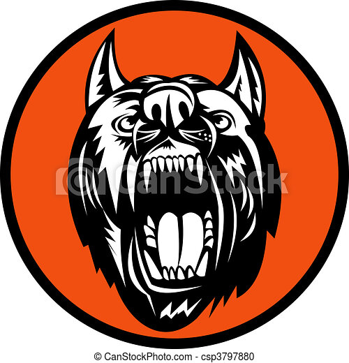 Angry Dog barking growling at you - csp3797880
