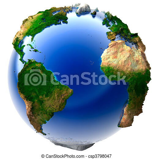 Miniature real Earth - csp3798047