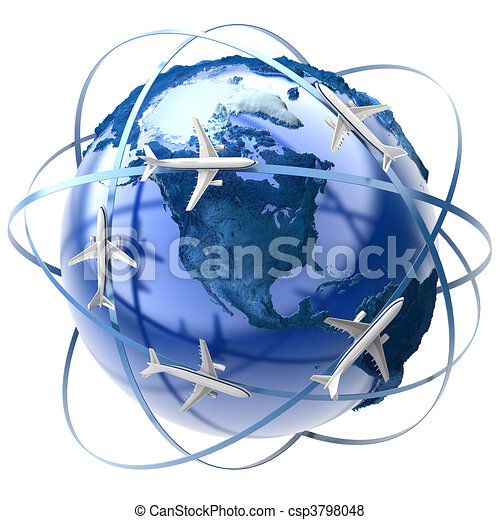 International air travel - csp3798048