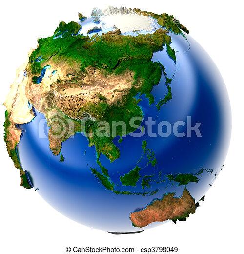 Miniature real Earth - csp3798049