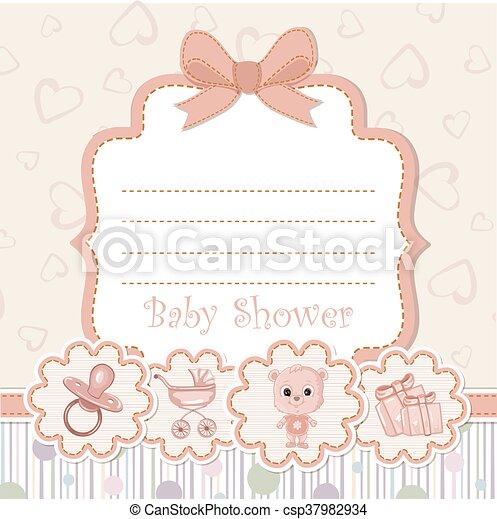 Baby shower invitation - csp37982934