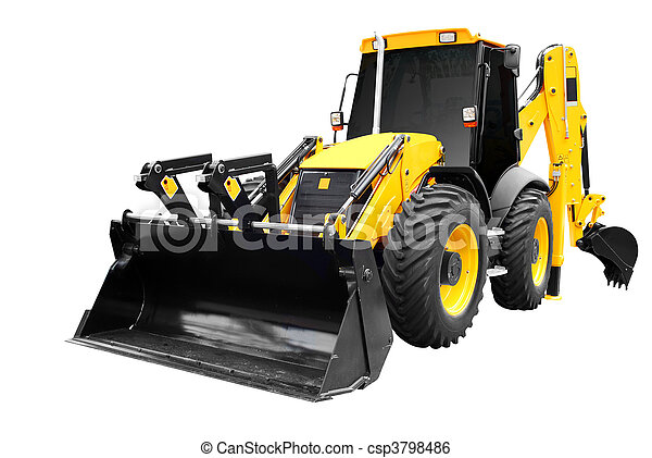 front view of earth-moving machine - csp3798486