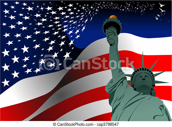 4th July %u2013 Independence day of Uni - csp3798547