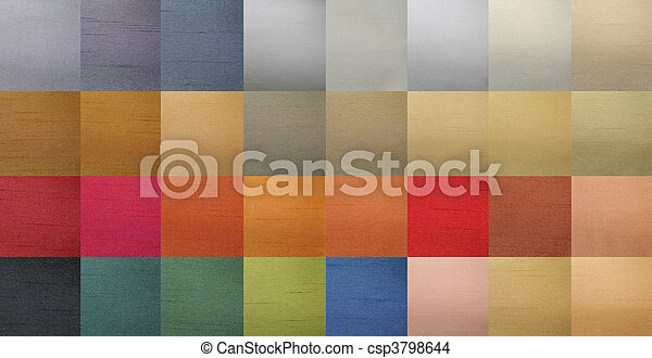 Textiles color chart - csp3798644