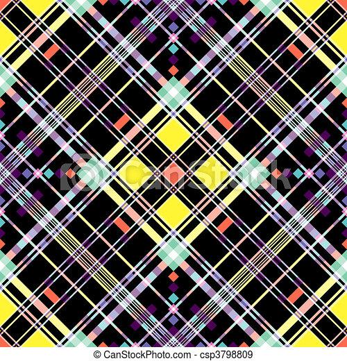 Seamless checkered diagonal pattern - csp3798809