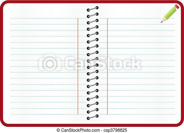 sheet of Paper   - csp3798825
