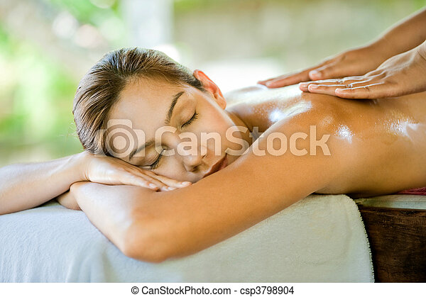 Woman In Spa - csp3798904