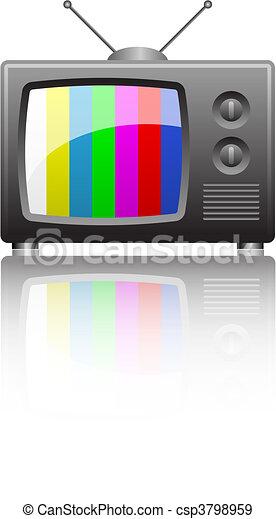 television set - csp3798959