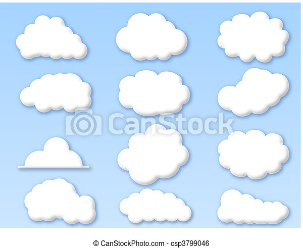 clouds on cloudy blue sky - csp3799046