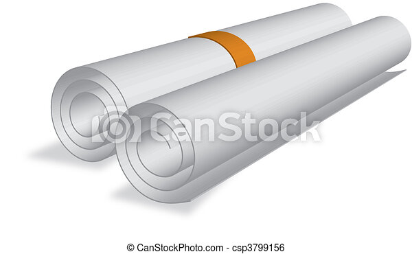 sheet roll of certificate etc. - csp3799156