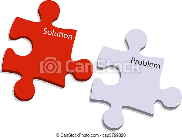 problem and solution puzzle   - csp3799320