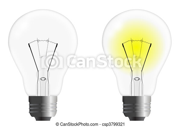 On and off Vector Light Bulb - csp3799321