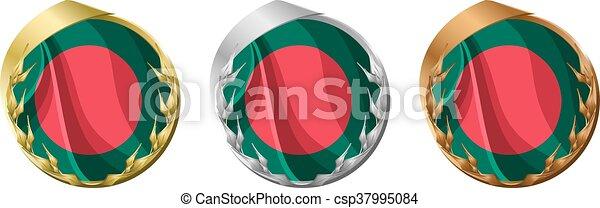 Medals Bangladesh - csp37995084