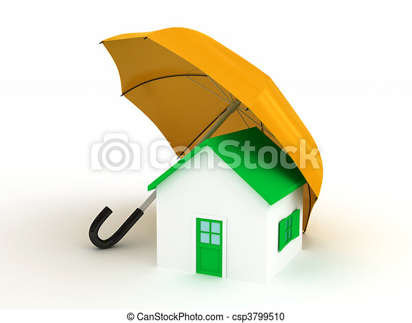 Home under umbrella - csp3799510