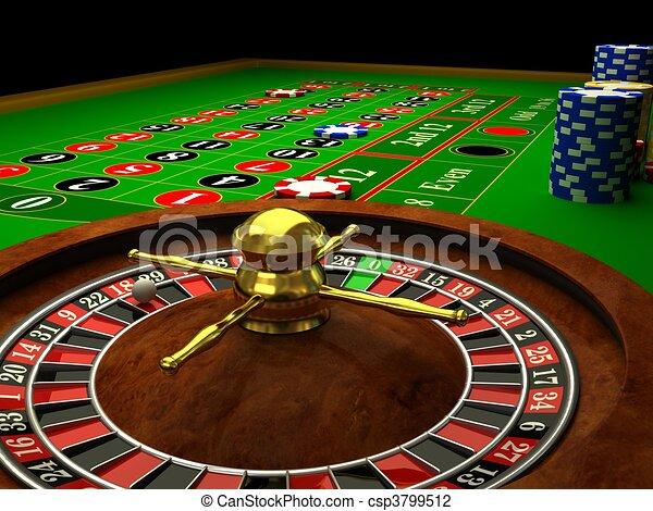 Casino Roulette - csp3799512