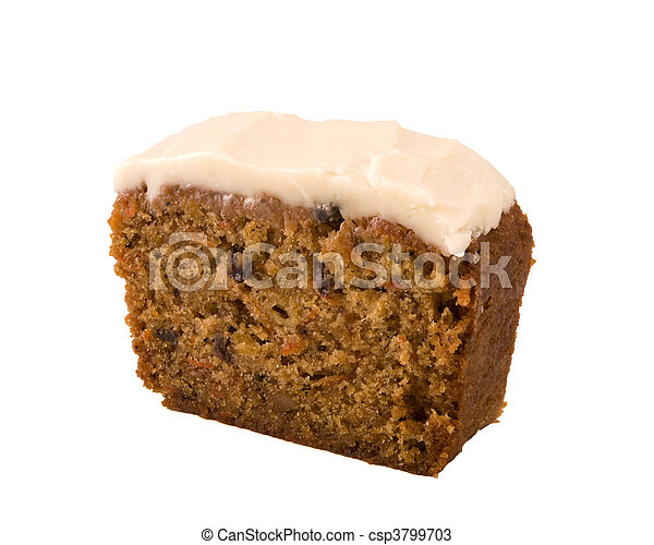 Carrot cake isolated - csp3799703