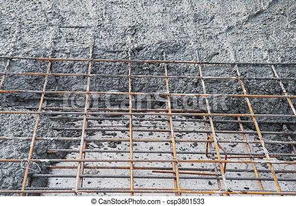 stock fotos von beton masche metall f llung metall gitter mit beton csp3801533. Black Bedroom Furniture Sets. Home Design Ideas