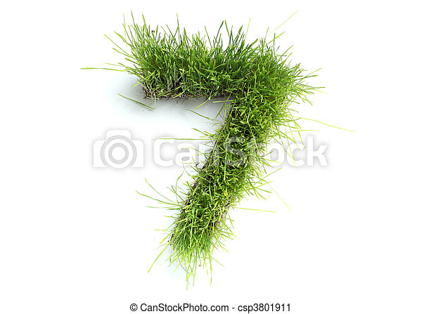 Numbers made of grass - 7 - csp3801911