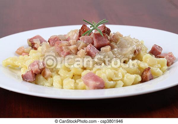 Slovak national food Halushky - csp3801946