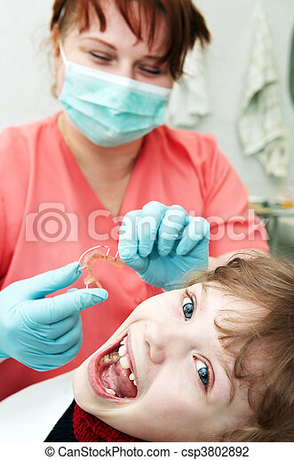 at dentist medic orthodontic doctor examination - csp3802892