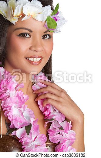 Tropical Lei Woman - csp3803182