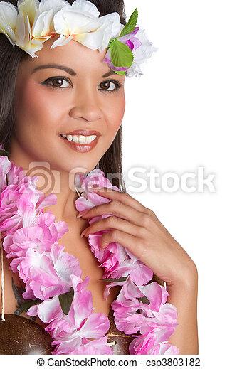 Tropical Lei Woman - csp3803182