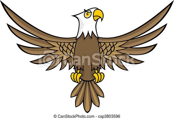 Clip art vecteur de aigle dessin anim rigolote - Dessin de aigle ...