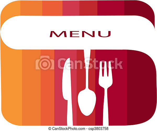 restaurant menu template with gradient colors - csp3803758