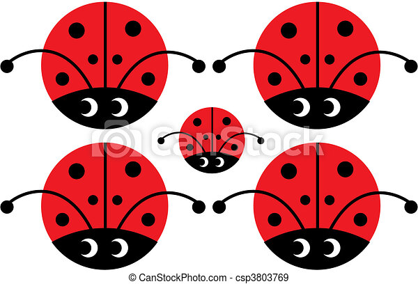 lady bug with eyes - csp3803769