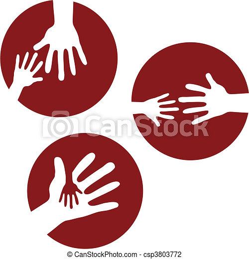 Child\'s Hands and Adult Hands  - csp3803772
