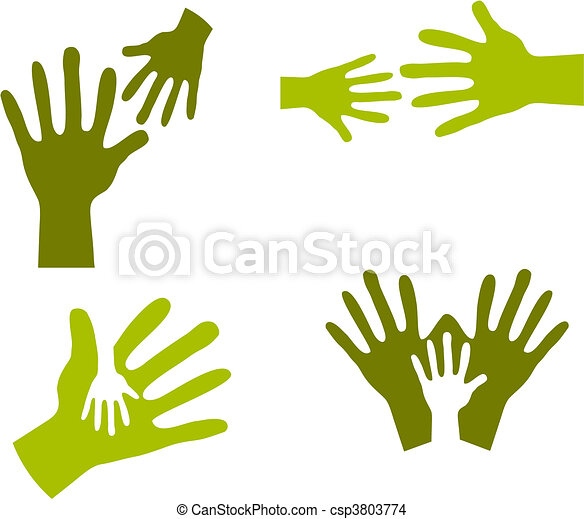Child's Hands and Adult Hands - csp3803774