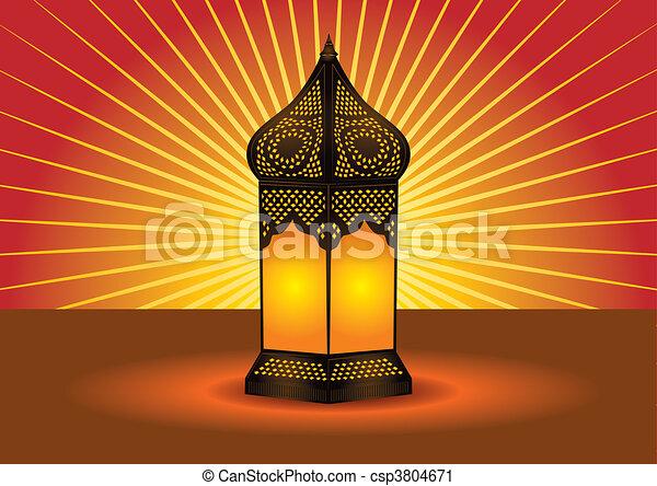 intricate islamic floor lamp - csp3804671
