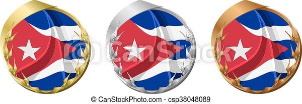 Medals Cuba - csp38048089