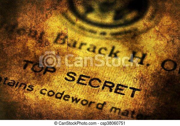 Top secret document grunge concept