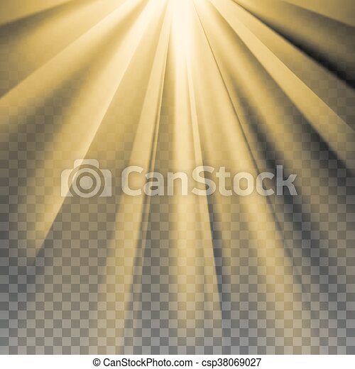 Yellow sun rays flare - csp38069027