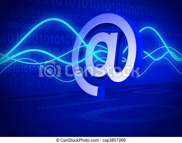 Email filter and technology concept - csp3807266