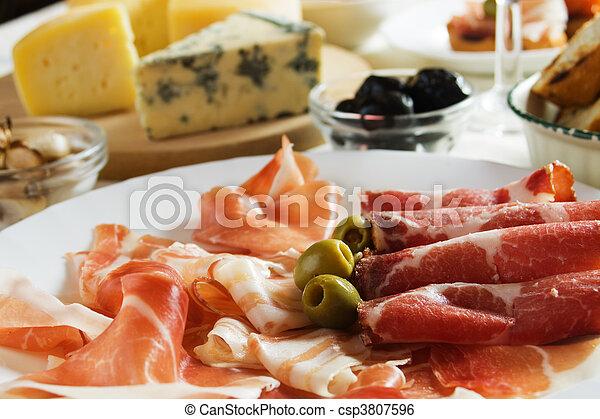 Prosciutto, italian cured ham - csp3807596