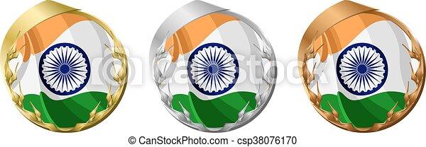 Medals India - csp38076170