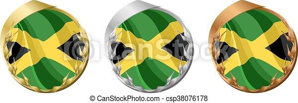 Medals Jamaica - csp38076178